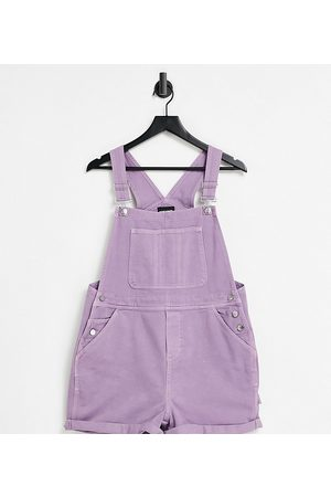 Reclaimed Vintage Ženy Overaly dlouhé - Inspired short dungaree in purple