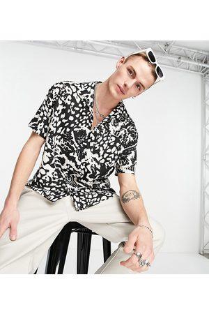 Reclaimed Vintage Inspired animal revere shirt co ord-Multi