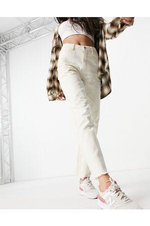 Vila Straight leg jean in ecru-White