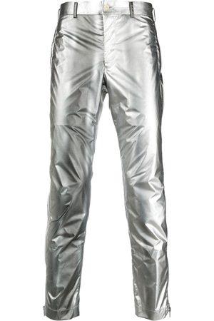 Comme des Garçons Slim-fit metallic trousers