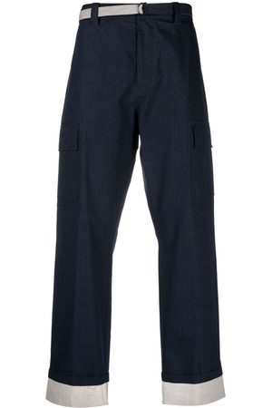 CRAIG GREEN Muži Rovné nohavice - Panelled cotton-ripstop trousers