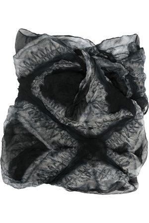 Issey Miyake 2000s silk printed scarf