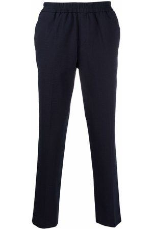 Harmony Textured slim-fit trousers