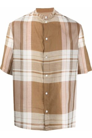 LEMAIRE Checked-print short-sleeve shirt