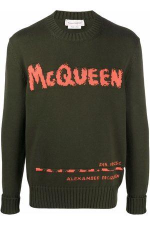 Alexander McQueen Graffiti intarsia-knit jumper