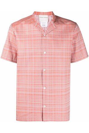 STEPHAN SCHNEIDER Check print short-sleeve shirt