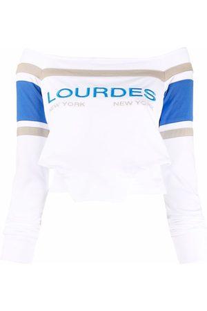 Lourdes Folded off-shoulder sweatshirt