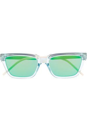 Gucci Transparent rectangle-frame sunglasses