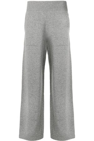 Barrie Flared knitted trousers