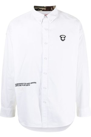 AAPE BY *A BATHING APE® Logo-plaque long-sleeved shirt