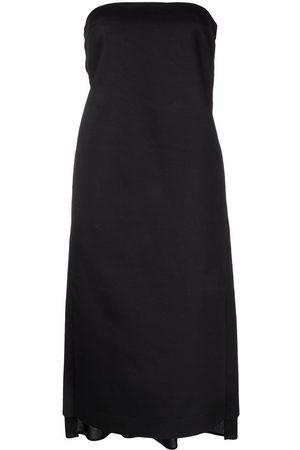Nº21 Bow-embellished strapless dress