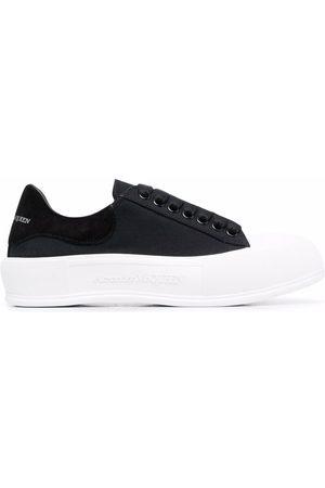 Alexander McQueen Deck lace-up plimsoll sneakers