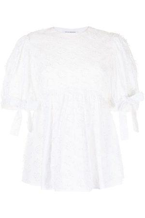 Cecilie Bahnsen Open-back lace blouse