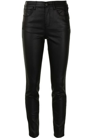 Emporio Armani Stretch-fit coated skinny jeans