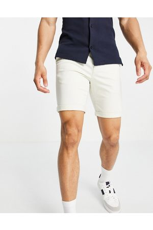 New Look Chino short in white