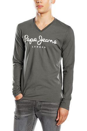 Pepe Jeans Muži S dlouhým rukávem - Pánské tmavě šedé tričko