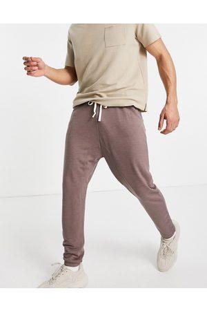 ASOS Muži Tepláky - Lightweight drop crotch joggers in grey