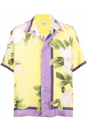 VALENTINO Muži S krátkým rukávem - Flora-print short-sleeve shirt