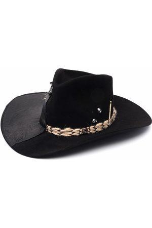 NICK FOUQUET Panelled wool fedora hat