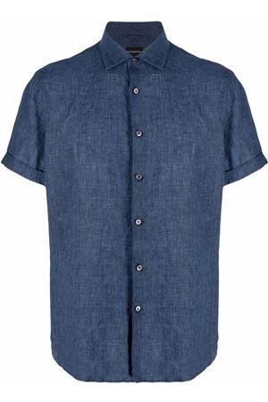 Ermenegildo Zegna Muži S krátkým rukávem - Linen short-sleeve shirt