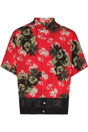 UNDERCOVER Muži S krátkým rukávem - Face-print short-sleeve shirt
