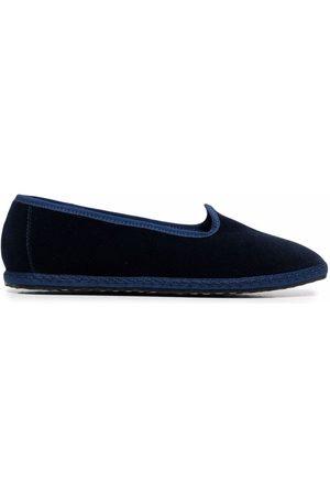 VIBI VENEZIA Velvet grosgrain-trim slippers