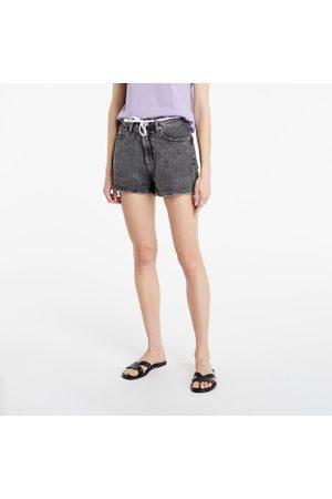 Calvin Klein Ženy Šortky - Short High Rise Denim Grey