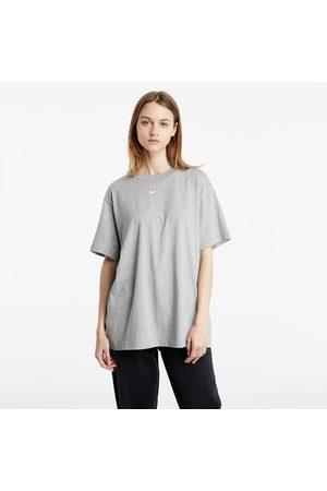 Nike Ženy Topy - Sportswear Essential Boyfriend Top Dk Grey Heather/ White