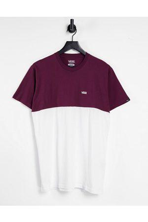 Vans Muži S krátkým rukávem - Colourblock t-shirt in white/burgundy
