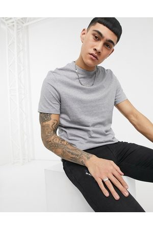ASOS T-shirt with crew neck in grey marl