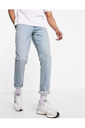 ASOS Light wash slim jeans in selvedge denim-Blue