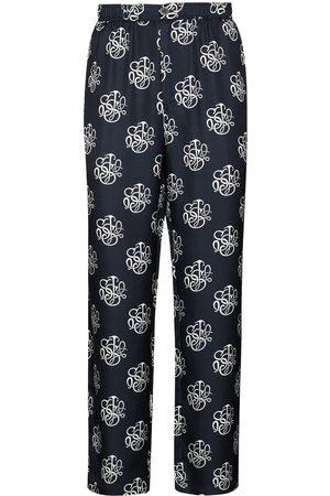 Soulland Logo-print slim-leg trousers