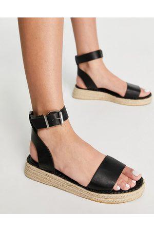Schuh Victoria flatform espadrille sandals in black