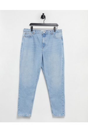 Topshop Mom jeans in bleach wash blue