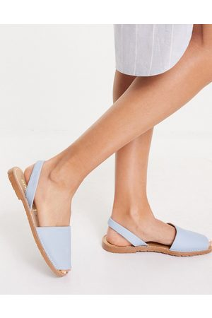 Solillas Ženy Sandály - Leather Menorcan sandals in light blue