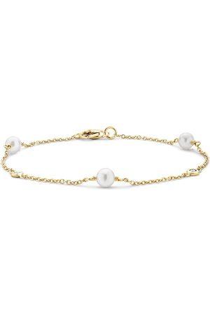 Pragnell Ženy Náramky - 18kt yellow gold Sundance pearl and diamond bracelet