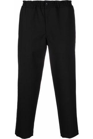 Comme des Garçons Muži Rovné nohavice - Flap-pocket wool trousers