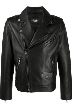 Karl Lagerfeld Muži Kožené bundy - Ikonic leather biker jacket
