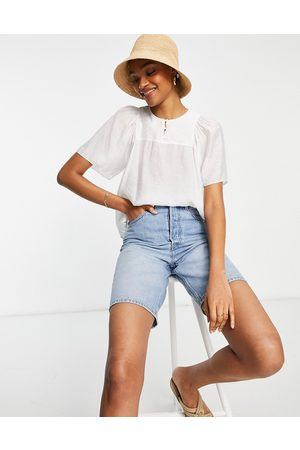 Whistles Harlee tunic top in white