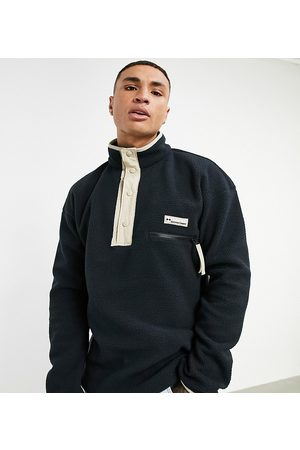 Columbia Muži Fleecové - Helvetia Half Snap neck fleece in black Exclusive at ASOS