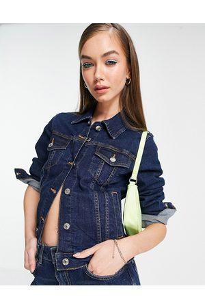 MANGO Ženy Džínové bundy - Denim jacket in blue