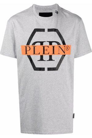 Philipp Plein Muži S krátkým rukávem - Hexagon logo-print T-shirt