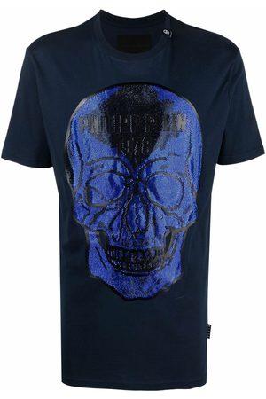 Philipp Plein Muži S krátkým rukávem - Crystal embellished skull T-shirt