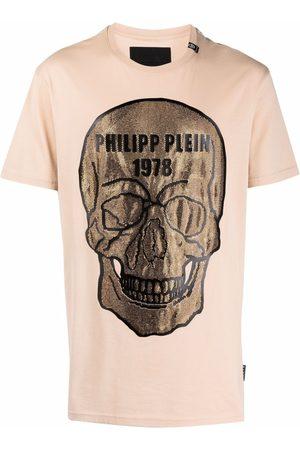 Philipp Plein Muži S krátkým rukávem - Crystal-embellished skull T-shirt