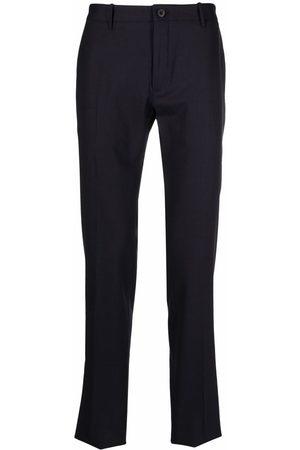 Incotex Muži Společenské - Mid-rise straight-leg trousers