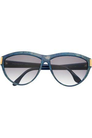 Yves Saint Laurent Sluneční brýle - 1980s logo detail gradient round-frame sunglasses