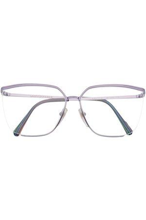 Lanvin 1990s rimless oversize-frame glasses