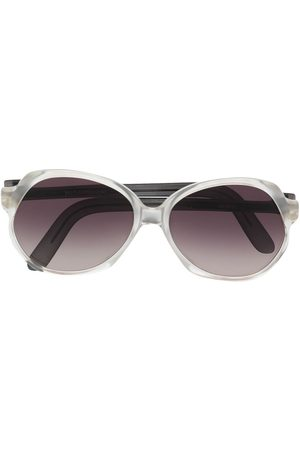 Yves Saint Laurent 1980s gradient oversize-frame sunglasses