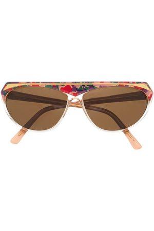 A.N.G.E.L.O. Vintage Cult Ženy Sluneční brýle - 1970s abstract pattern oval-frame sunglasses