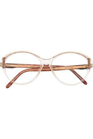 Yves Saint Laurent Ženy Sluneční brýle - 1980s tortoiseshell round-frame glasses